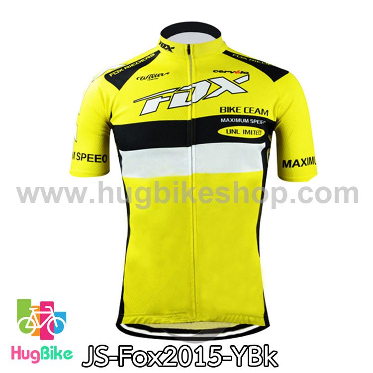 เสื้อจักรยานแขนสั้นทีม Fox 2015 เหลืองดำ สั่งจอง (Pre-order)