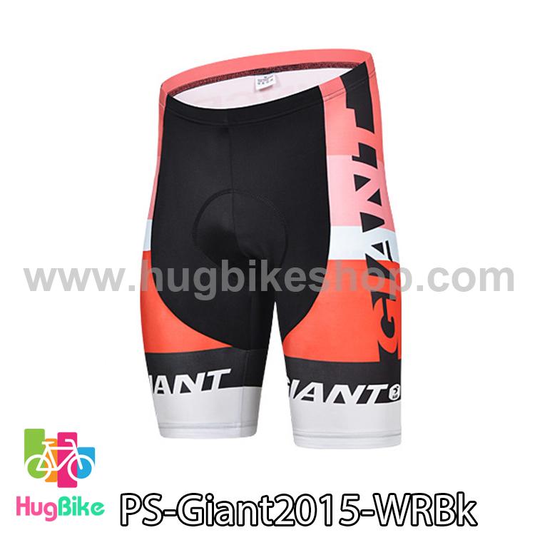 กางเกงจักรยานขาสั้นทีม Giant 15 สีขาวแดงดำ สั่งจอง (Pre-order)