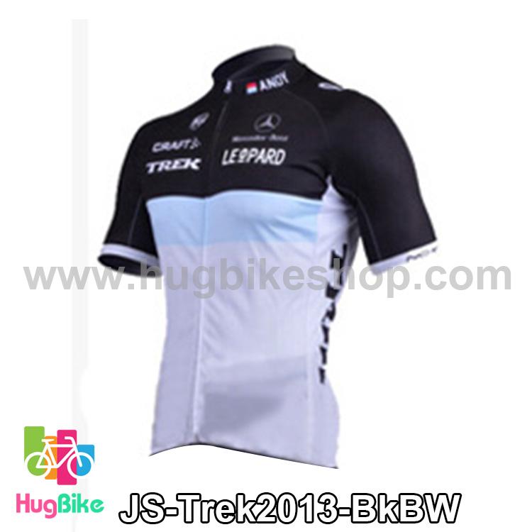 เสื้อจักรยานแขนสั้นทีม Trek 13 สีดำฟ้าขาว สั่งจอง (Pre-order)