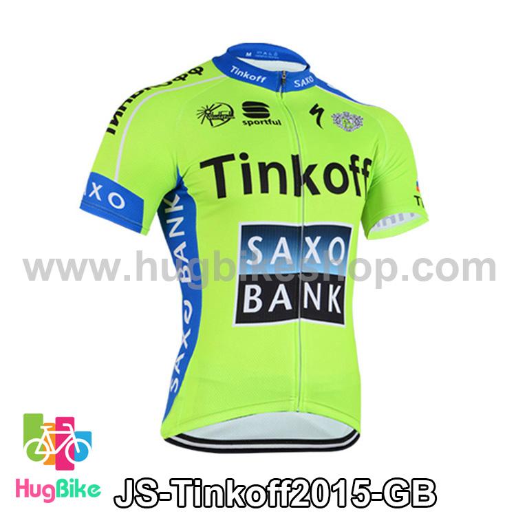 เสื้อจักรยานแขนสั้นทีม Tinkoff SAXO 15 สีเขียวฟ้า สั่งจอง (Pre-order)