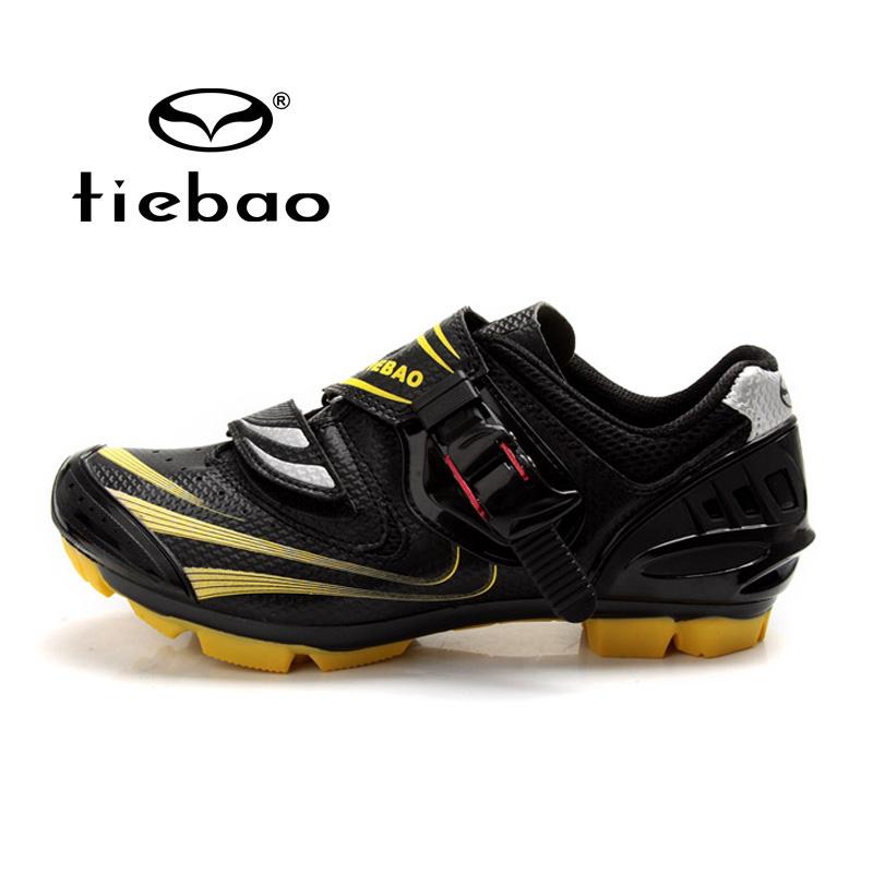รองเท้าจักรยานเสือภูเขา TIEBAO รุ่น TB15-B1260 สีดำเหลือง ตัวรัดออโต้
