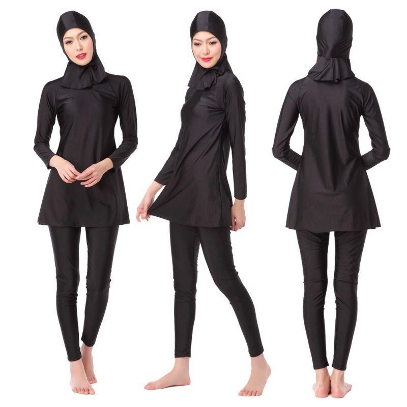 ชุดว่ายน้ำมุสลิม ผ้ายืดอย่างดี มีทุกไซส์ ส่งฟรี