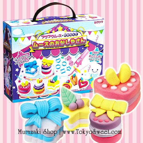 พร้อมส่ง ** Kutsuwa Fuwa Fuwa Mousse Clay Making Kit [Sweet Shop] เซ็ตตกแต่งดินญี่ปุ่นรูปของหวานต่างๆ เปเปอร์เคลของญี่ปุ่นจะนุ่มนิ่มน่าสัมผัส เล่นแล้วเพลินมากๆ ค่ะ