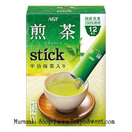 พร้อมส่ง ** AGF Sencha Stick - Uji Matcha ชาเขียวอุจิจากญี่ปุ่น มาในรูปแบบซองแยก ชงสะดวกแค่ฉีกซองแล้วเติมน้ำร้อน ชงได้ทั้งร้อนและเย็น บรรจุ 12 ซอง