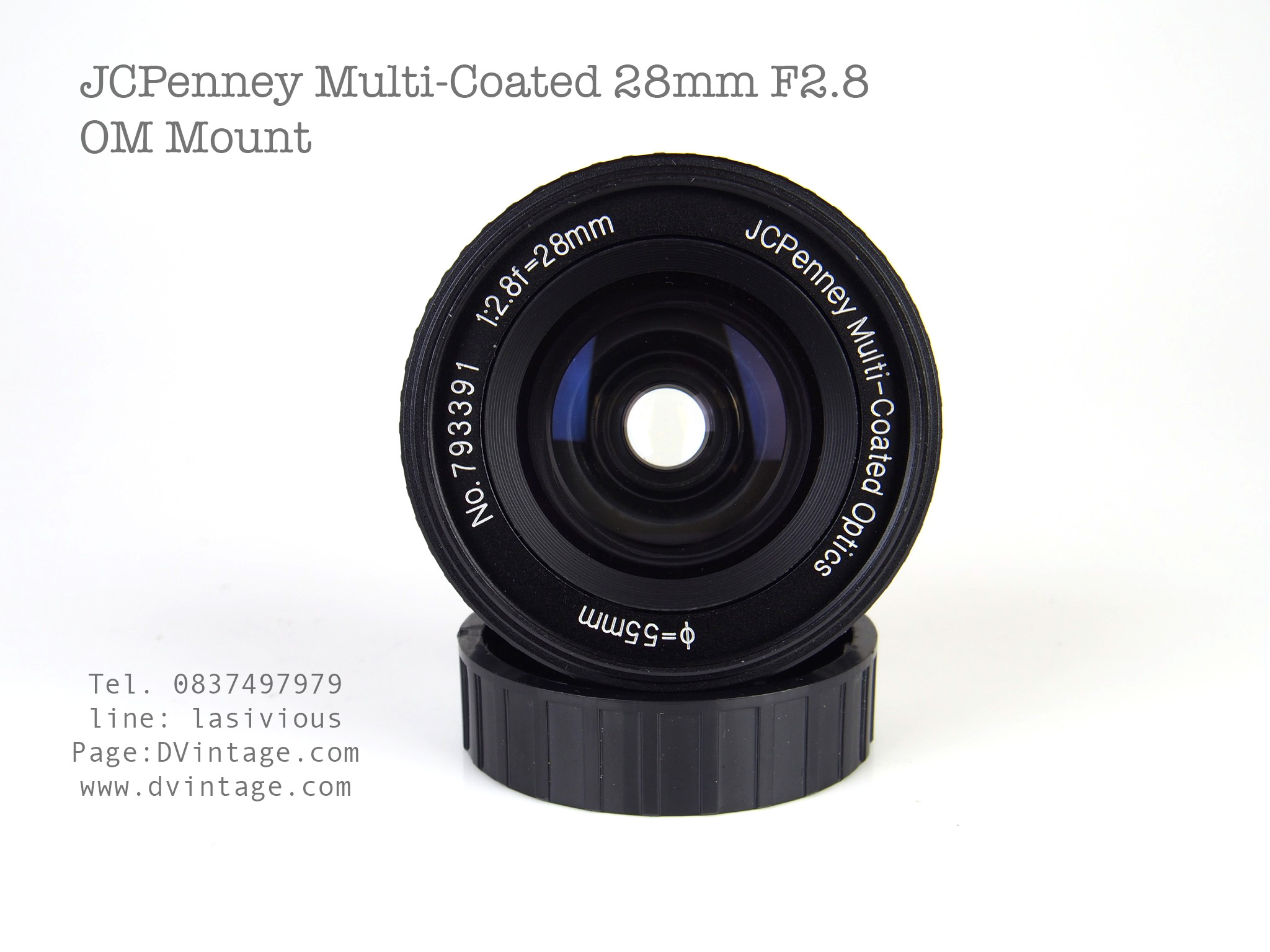 JCPenney Multi-Coated 28mm F2.8 OM Mount