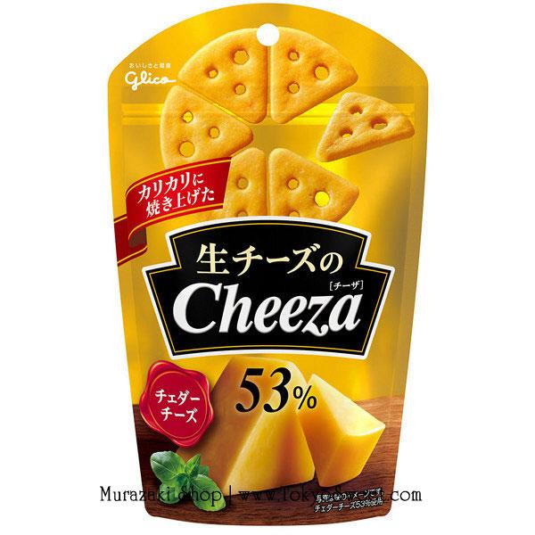 พร้อมส่ง ** Glico Cheeza [Cheddar Cheese] แครกเกอร์ขนาดพอดีคำรสเชดดาร์ชีส ผสมชีสถึง 53% รสชาติเข้มข้น อร่อยมากค่ะ บรรจุ 40 กรัม