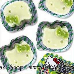 พร้อมส่ง ** Hello Kitty Chocolate [Matcha] ช็อคจิ๋วรูปคิตตี้รสชาเขียว 1 ชิ้น (ช็อคโกแลตทนร้อนได้ ไม่ละลาย)