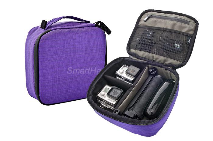 กระเป๋ากล้อง ยี่ห้อ TMC Sport ไซส์ M ( 22 x 20 x 7 cm ) - [ ม่วง ]