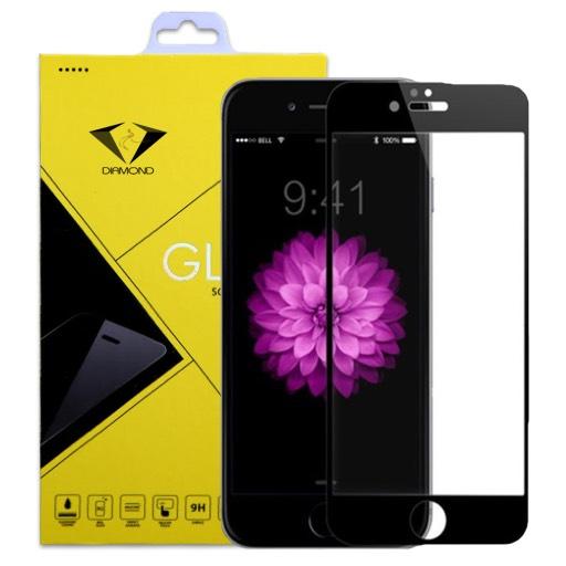 ฟิล์มกระจกนิรภัย_iphone 6 แบบเต็มจอ สีดำ ยี่ห้อ Diamond
