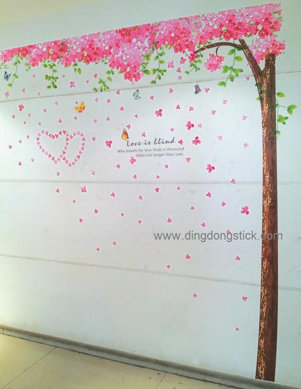 """สติ๊กเกอร์ติดผนัง ตกแต่งบ้าน Wall Sticker ขนาดใหญ่ """"ต้นไม้ใหญ่ Branch of world """" ความสูง 250 cm กว้าง 250 cm"""