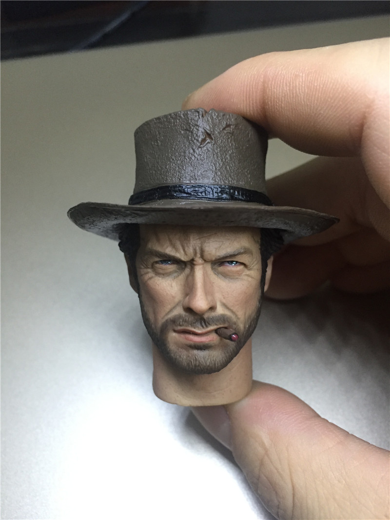 T-09 Western Cowboy PVC Eastwood Head Wear Hat cigar