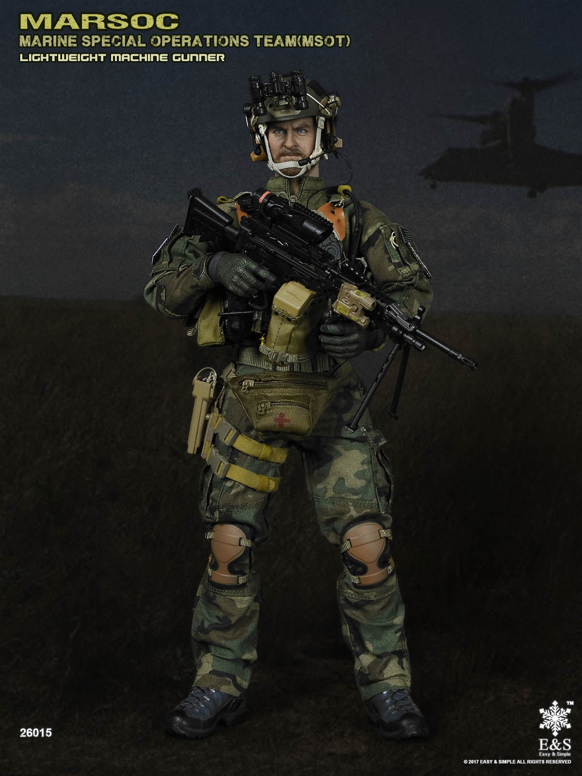 Easy&Simple 26015 MARSOC MSOT Lightweight Machine Gunner