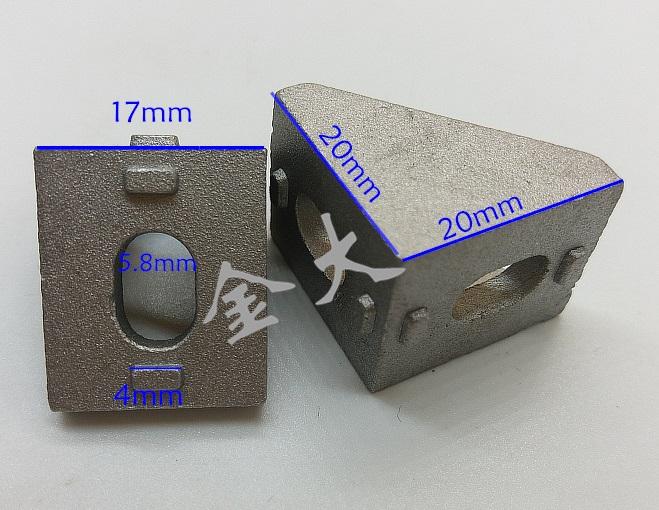 Bracket D 20 สำหรับอลูมิเนียมโปรไฟล์ 2020