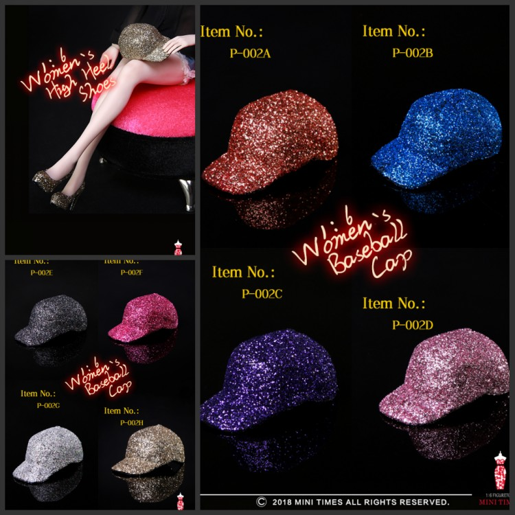 Mini times toys P-002 Sequined gold silk trend cap