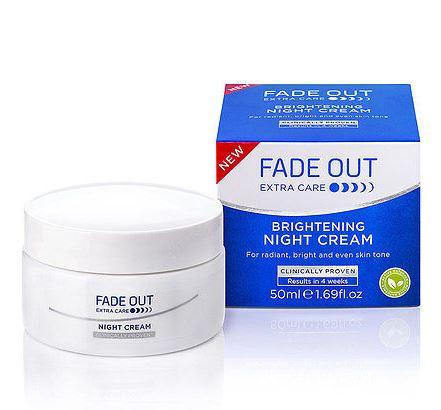 **พร้อมส่ง**Fade Out Extra Care Brightening Night Cream ขนาด 50ml. ไนท์ครีมเพื่อผิวกระจ่างใส เนื้อครีมเข้มข้นสำหรับฟื้นบำรุงผิวในยามค่ำคืน คืนผิวกระจ่างใส เรียบเนียนจนสังเกตได้ใน 4 สัปดาห์ รอยดำ รอยสิวดูจางลง ผิวนุ่มชุ่มชื่น ไร้ริ้วรอย ,