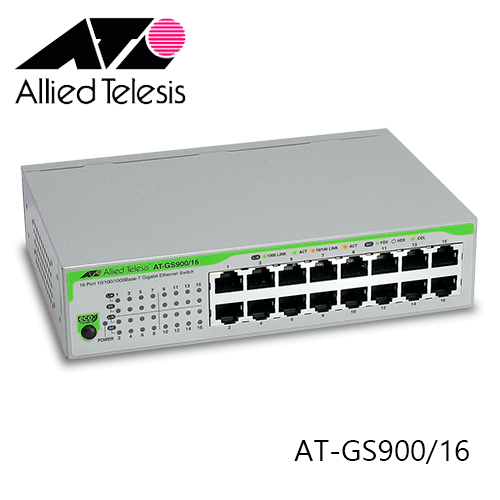ALLIED TELESIS AT-GS900/16 16 PORTS UNMANAGED GIGABIT SWITCH