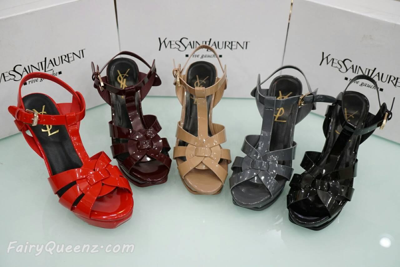 พร้อมส่ง : รองเท้า YSL งาน Mirror Image (รุ่นหนังแก้ว)