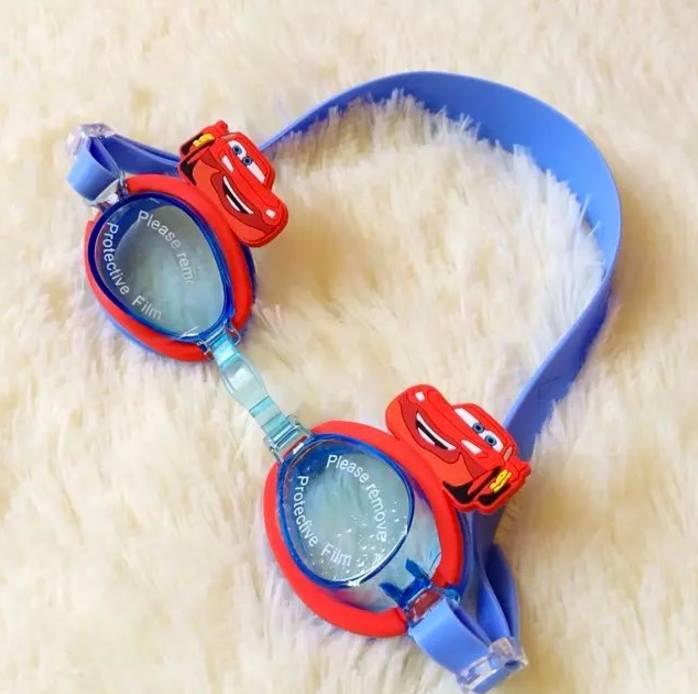 แว่นตาว่ายน้ำเด็ก คาร์ สีน้ำเงิน