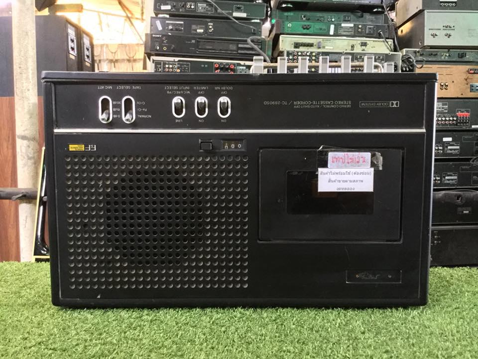 วิทยุ FM AM SONY TC-2890 SD สินค้าไม่พร้อมใช้งาน (ต้องซ่อม)