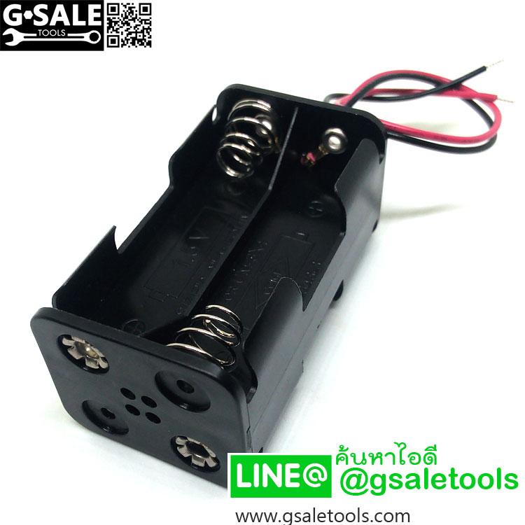 รางถ่าน AA 4 ก้อน / Battery holder case AAx4 (1.5v x 4 = 6v)