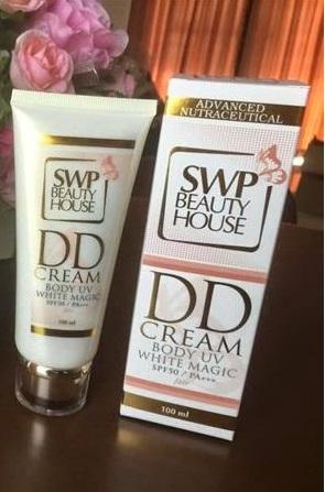 SWP Beauty House DD Cream UV White Magic ดีดี ครีม น้ำแตก ครีมพอกตัวขาว ของแท้ ราคาถูก ปลีก/ส่ง โทร 081-859-8980 ต้อม