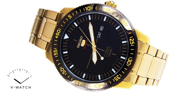 Seiko srp 570J Pilot 5 Sport Black Gold Made in Japan