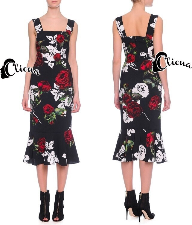 Cliona made' DG Roses Prininting Dress