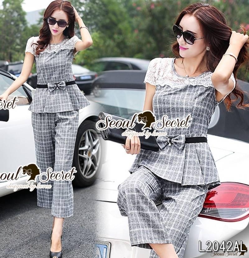 Seoul Secret Say's .... Bowy Lady Scotty Lace Shoulder Set