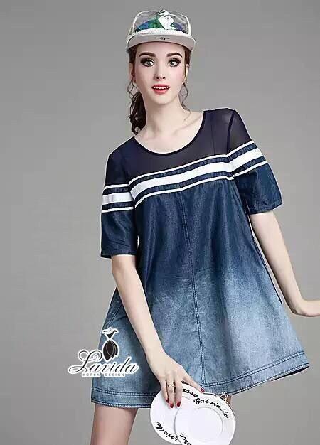 Korea Design By Lavida fashionable loose fitting casual denim dress