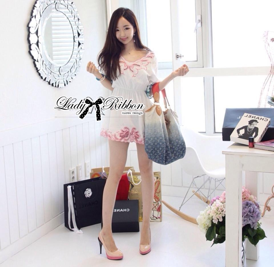 Lady Ribbon's Made Lady Sweet Pastel Mini Dress