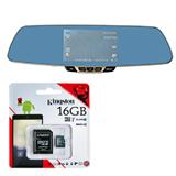 Car Camcorder Rear-View Mirror F3C + Kingston 16 GB Class 10