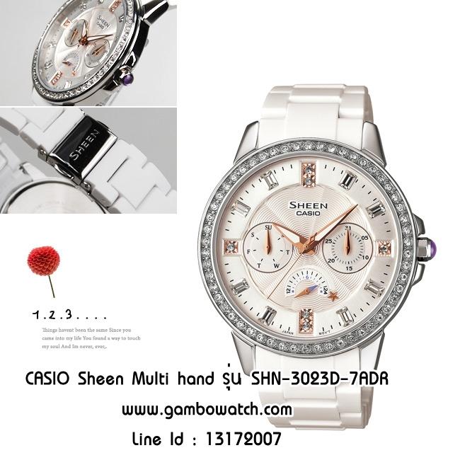 CASIO Sheen Multi hand รุ่น SHN-3023D-7ADR