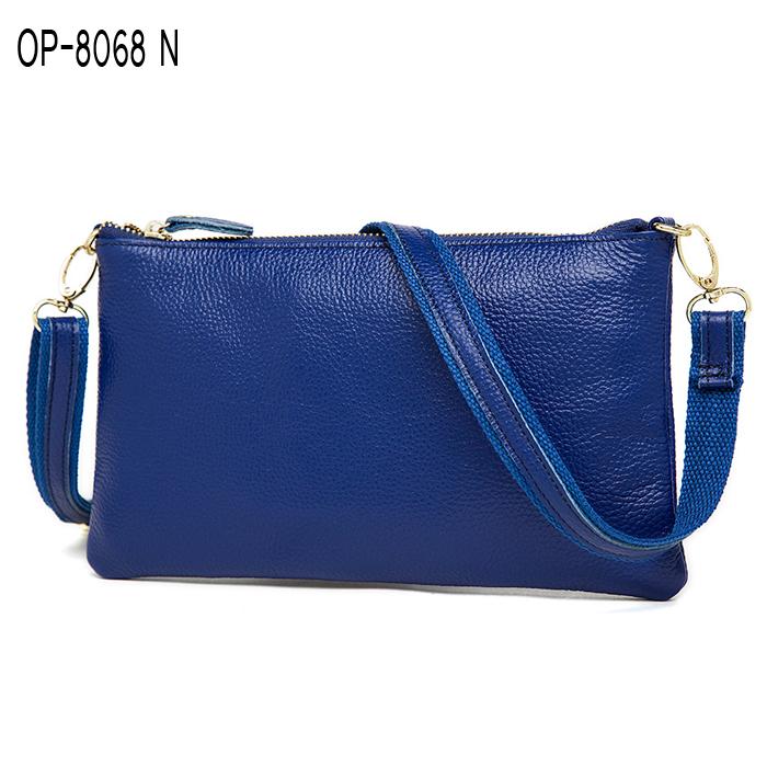 OP-8068 กระเป๋าสะพายข้าง หนังแท้ หลากสี