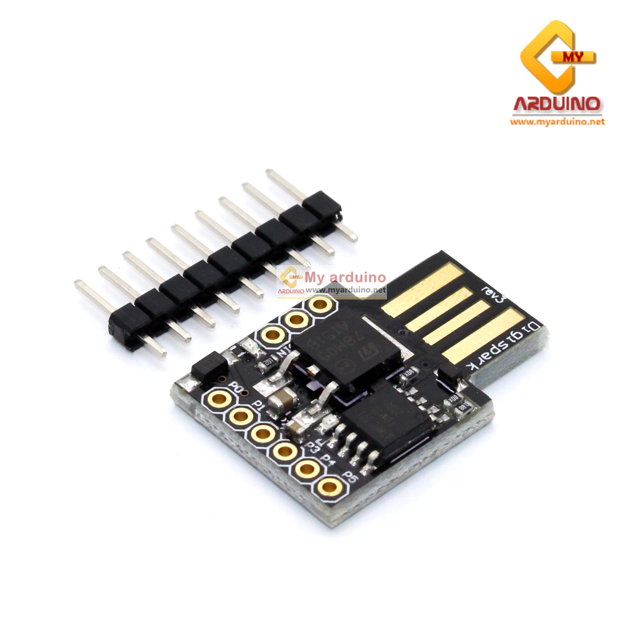 Digispark Arduino บอร์ดพลังจิ๋ว ATTiny85 Digispark Development Board ATtiny85 Digispark ATtiny85