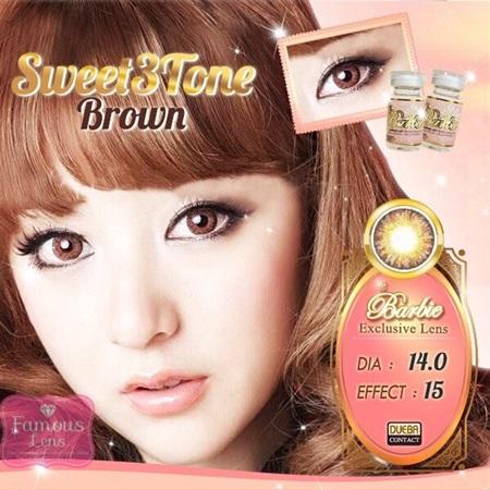 Sweet3Tone Gray Brown Blue EFF.15 คอนแทคเลนส์สีเทา คอนแทคเลนส์สีน้ำตาล คอนแทคเลนส์สีฟ้า ราคาถูก บิ๊กอาย บิ๊กอายเกาหลี Dia.14 Bigeye Contact Lens Contact Lenses ขายส่งคอนแทคเลนส์ ซื้อคอนแทคเลนส์ ราคาส่ง ร้านคอนแทคเลนส์ ร้านบิ๊กอาย