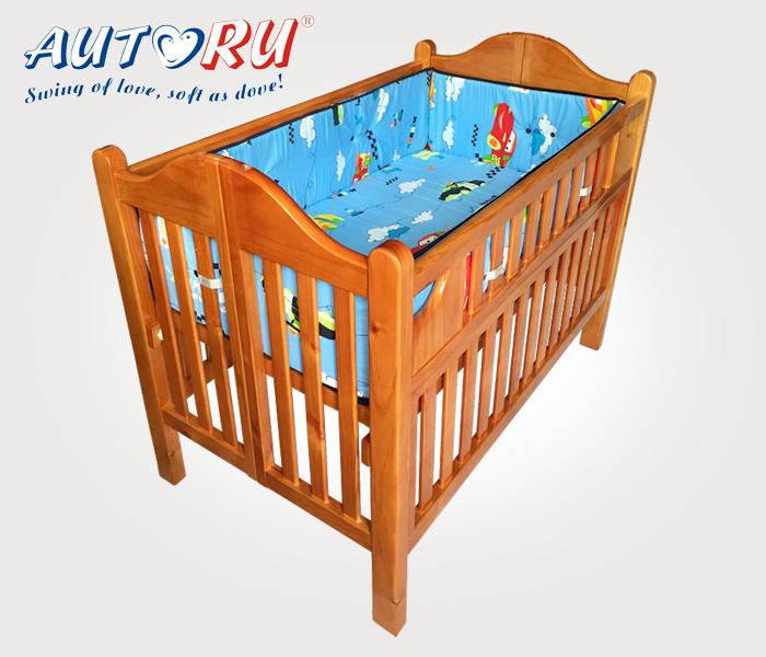เตียงไม้เด็ก