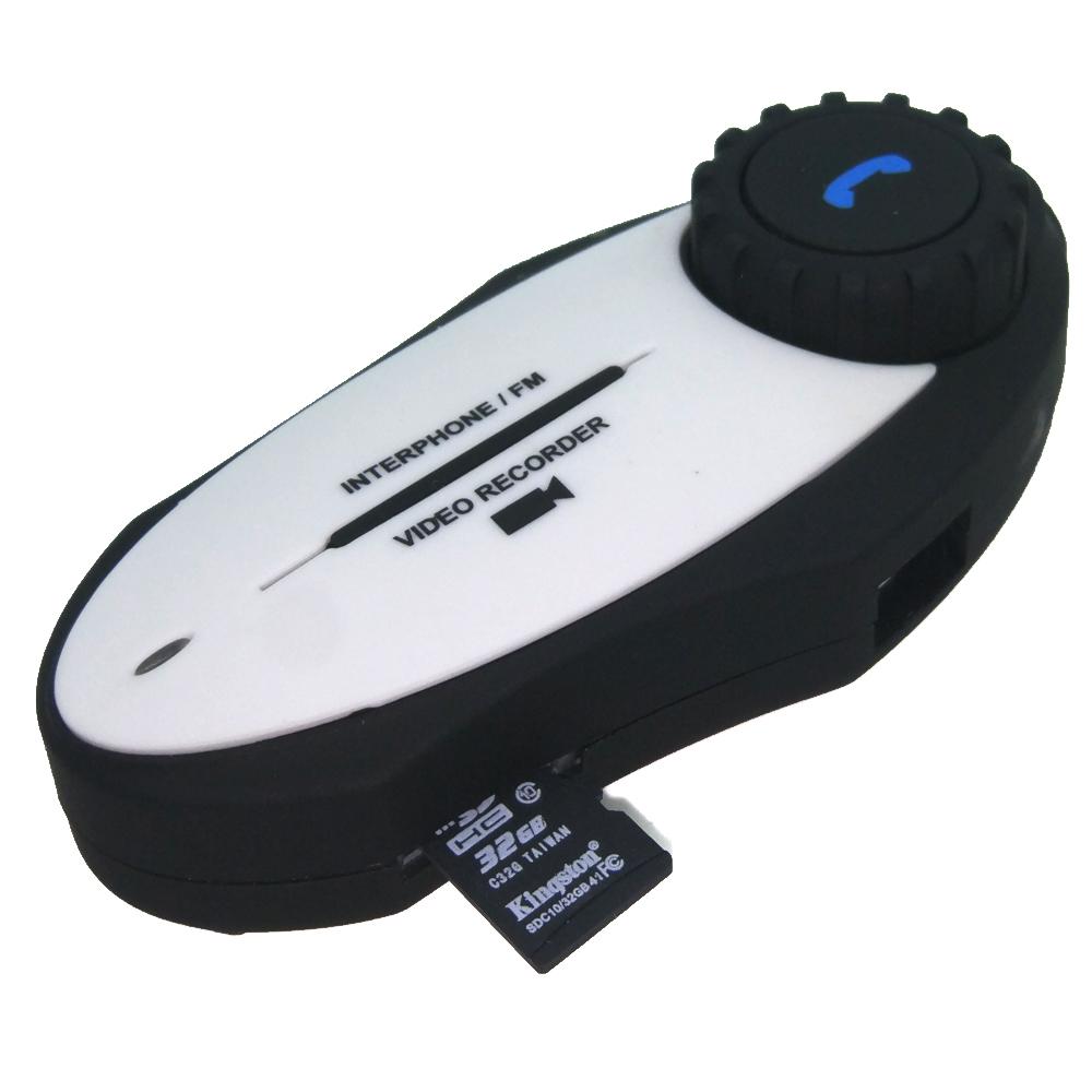 ภาพ climder intercom ติดหมวกกันน็อก มีกล้อง VDO รุ่น GXV ด้านป้าน