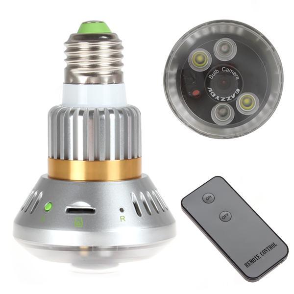 กล้องวงจรปิด หลอดไฟ IR LED Bulb CCTV พร้อม Remote Control-GW08