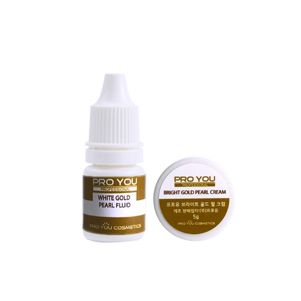 Proyou White Gold Pearl Double Collection 5g+5ml (ครีมและเซรั่มบำรุงผิวหน้าที่มีประสิทธิภาพในการบำรุงผิวอย่างล้ำลึก ช่วยปรับผิวให้ดูขาวเรียบเนียนกระจ่างใส)