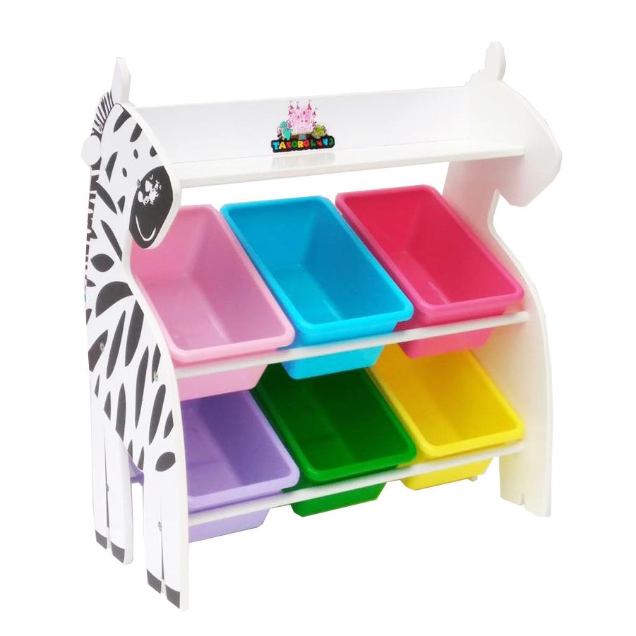 Mini Zebra Keeping Toy ชั้นวางของเล่น ม้าลาย กระบะเล็ก 6 ใบ