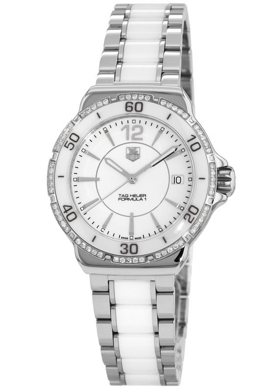นาฬิกาผู้หญิง Tag Heuer รุ่น WAH1213.BA0861, FORMULA 1 200 M - ∅37 mm Ceramic & Diamonds Ladies Watch