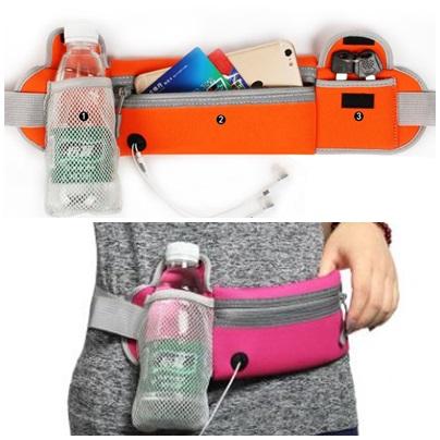 กระเป๋าคาดเอวแบบมีซองใส่ขวดน้ำ