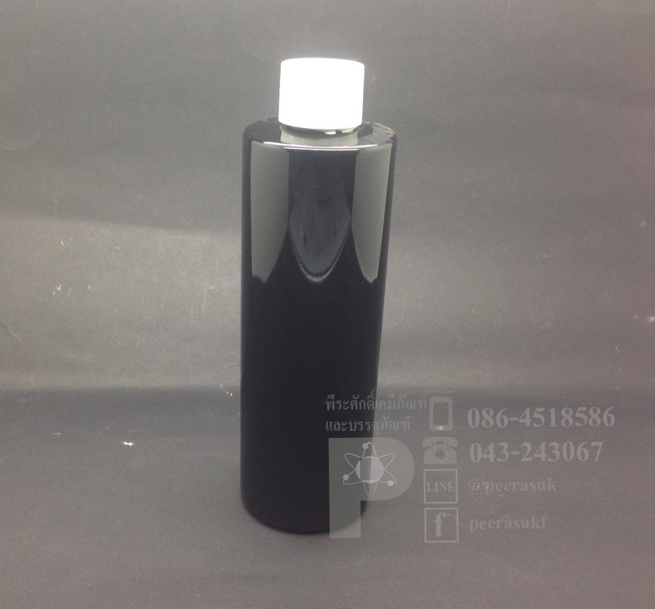 SA250 ml สีดำ+จุกตัน+ฝาเกลียวสีขาวทึบ แพคละ 10 ชิ้น