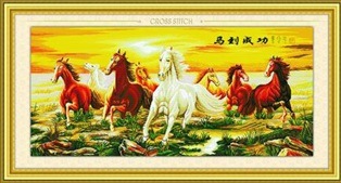 Eight horses 5 (พิมพ์ลาย)