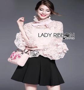 Lady Ribbon'Vintage Lace Blouse