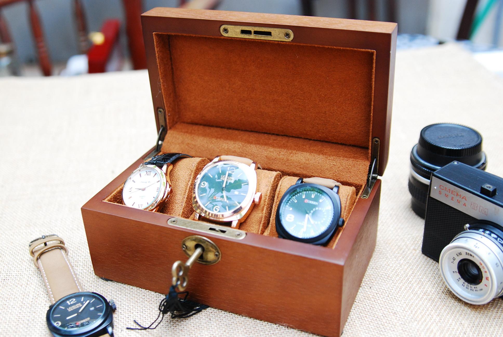 กล่องไม้เก็บนาฬิกา 3 เรือน
