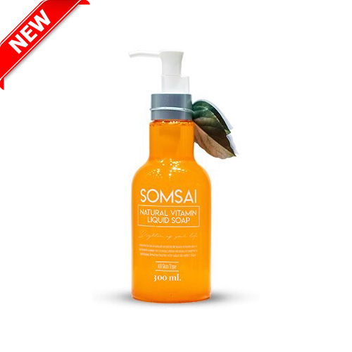 Somsai Soap สบู่ส้มใส วิตามิน 300 ml.