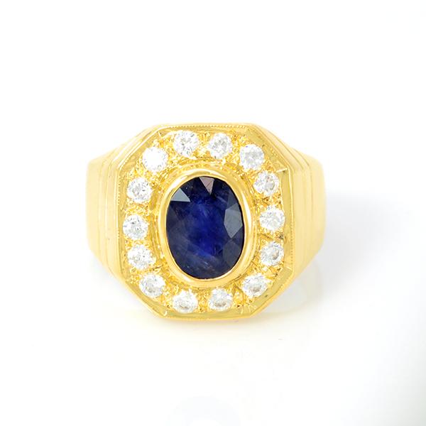 แหวนพลอยแท้ แหวนเงิน925 พลอย ไพลิน ตัวเรือน ชุบทองคำขาว