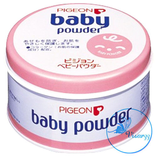 Pigeon Baby Powder 150g กระปุกชมพู แป้งฝุ่น ไม่มีสี กลิ่นหอมอ่อนๆ เหมาะกับผิวทุกประเภท ไม่ระคายเคือง ไม่ก่อให้เกิดสิว ใช้ได้ทุกวัย