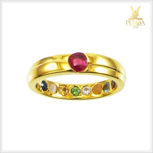 แหวนนพเก้า ทองแท้ เสริมมงคลชีวิตทุกด้าน (สามารถสั่งทำได้ค่ะ)